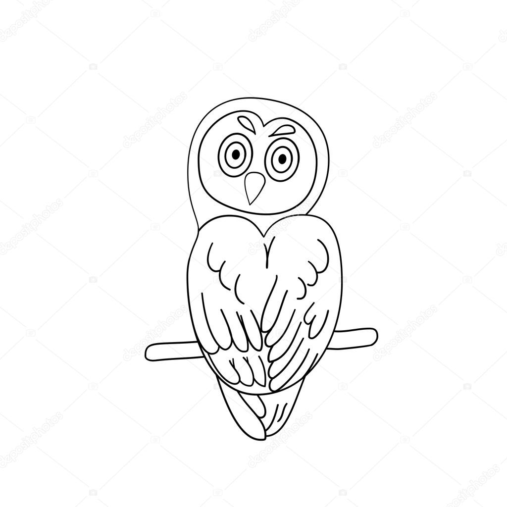 coloring page outline of owl u2014 stock vector yury111 89535070