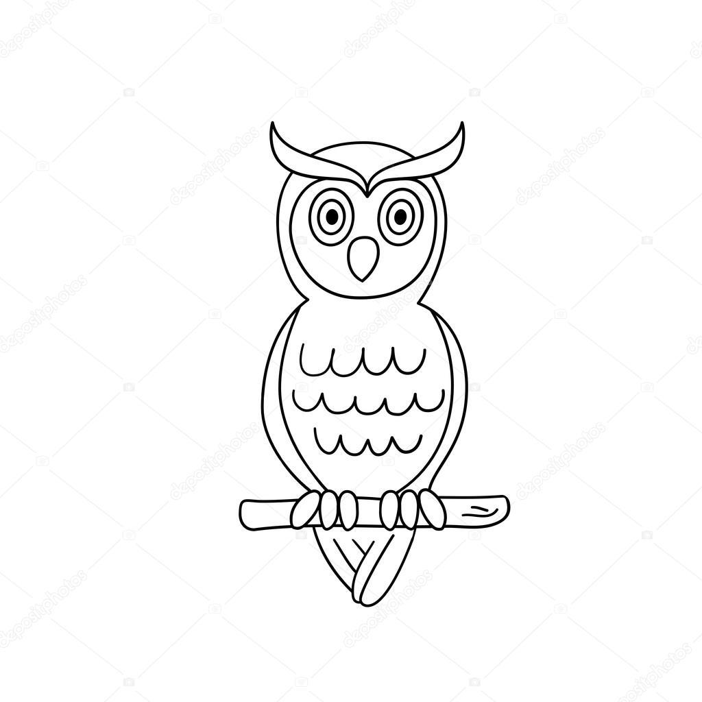 Baykuş Boyama Sayfası Ana Hatları Stok Vektör Yury111 89535158