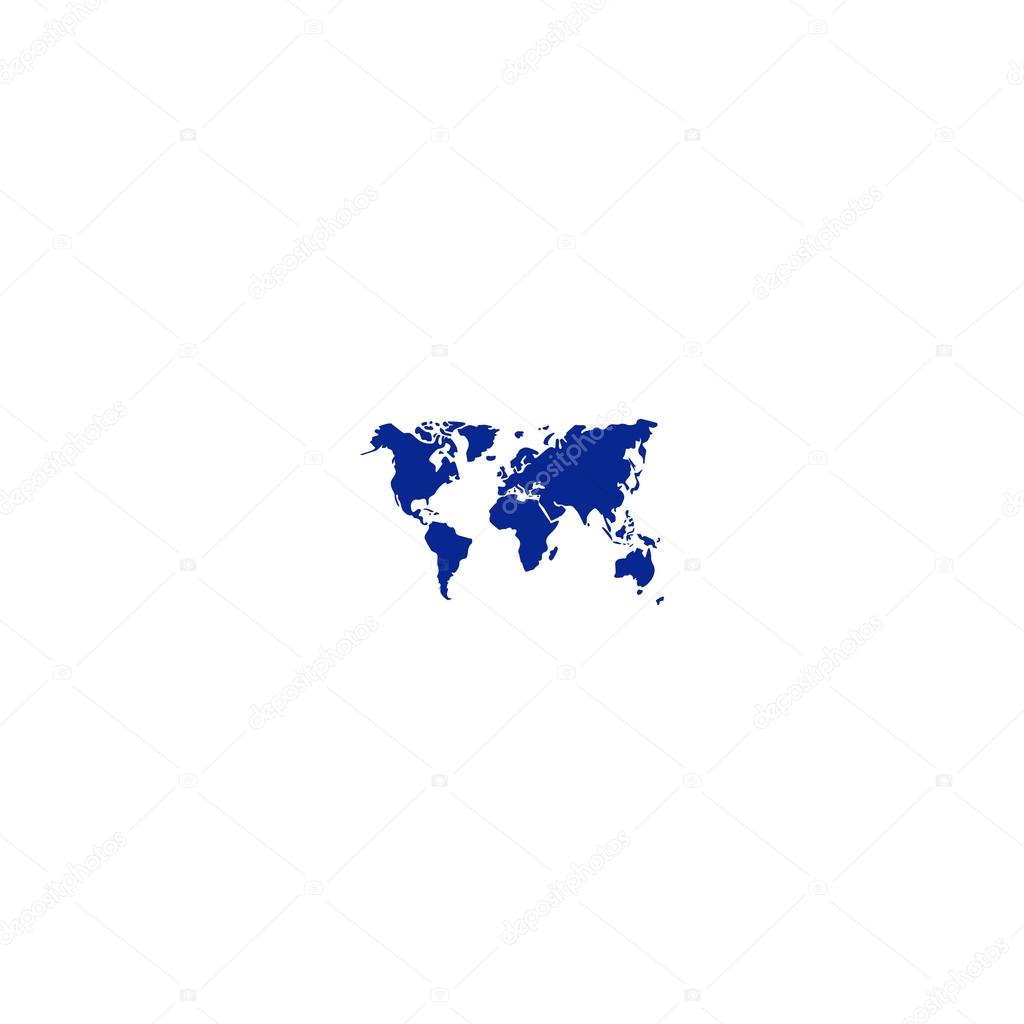 Flat paper cut style icon of world map stock vector boombellman flat paper cut style icon of world map stock vector gumiabroncs Choice Image