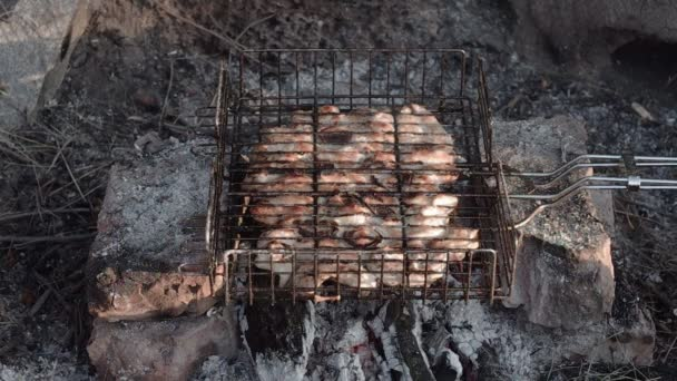 barbecue s lahodná grilovaná masa na grilu