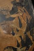 Fényképek Emberi adatok egy ősi görög váza, eredeti, részlet