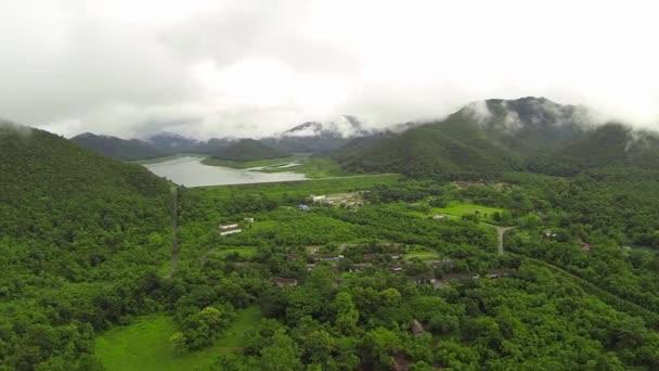 Mae Kuang Dam Aerial Shot at Chiang Mai Thailand.