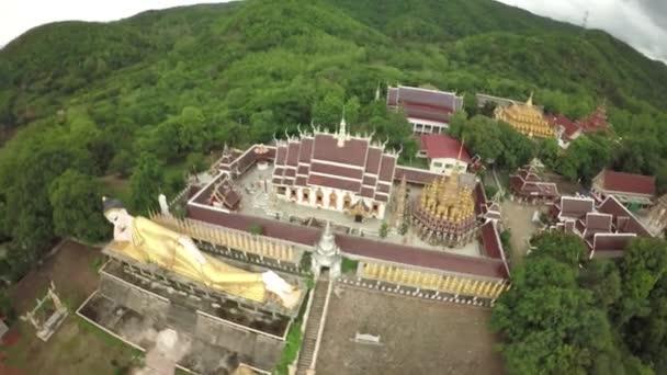 Aerial Shot Wat phra that suthon mongkhon khiri at phrae, Thailand