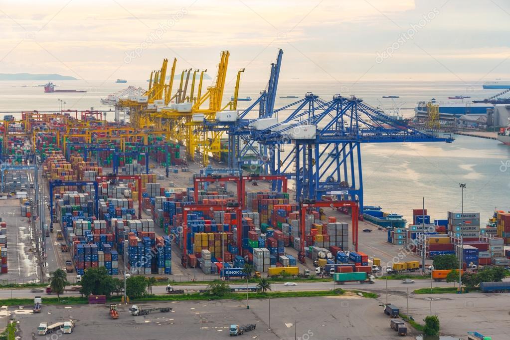 Bangkok, Thailand - September 28, 2015 : Container cargo