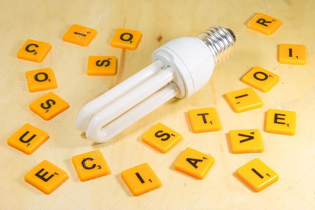 Lampada Tubolare Fluorescente : Lampada tubolare fluorescente standard con crossword puzzle