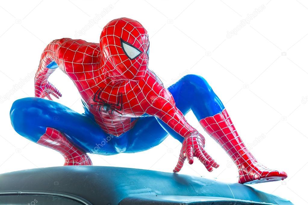 Ayuttaya, Thailand - November 16, 2015 : Spider-Man model sit do