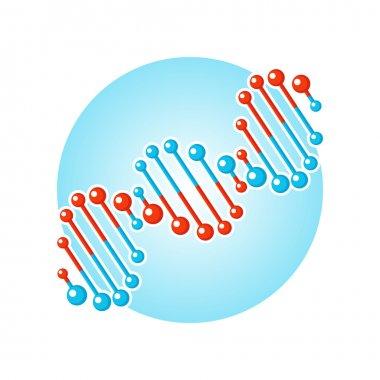 DNA double spiral symbol, deoxyribonucleic acid