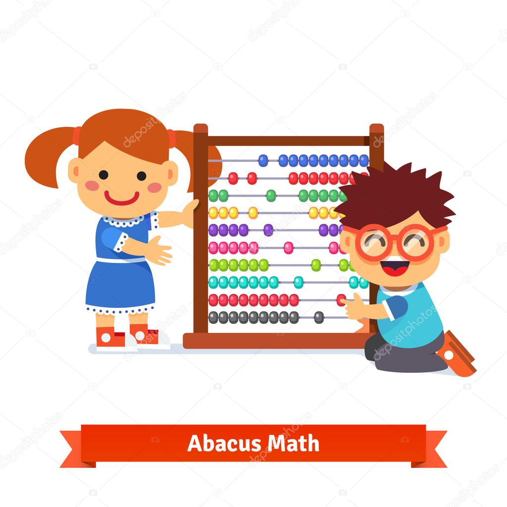 Kids are learning math — Stock Vector © IconicBestiary #86558660
