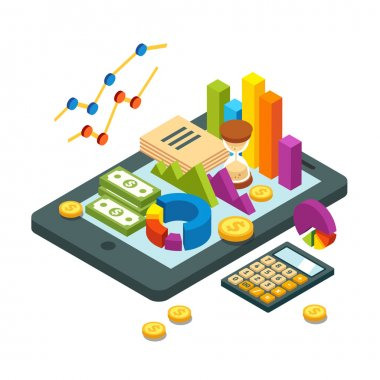Modern business and analytics concept