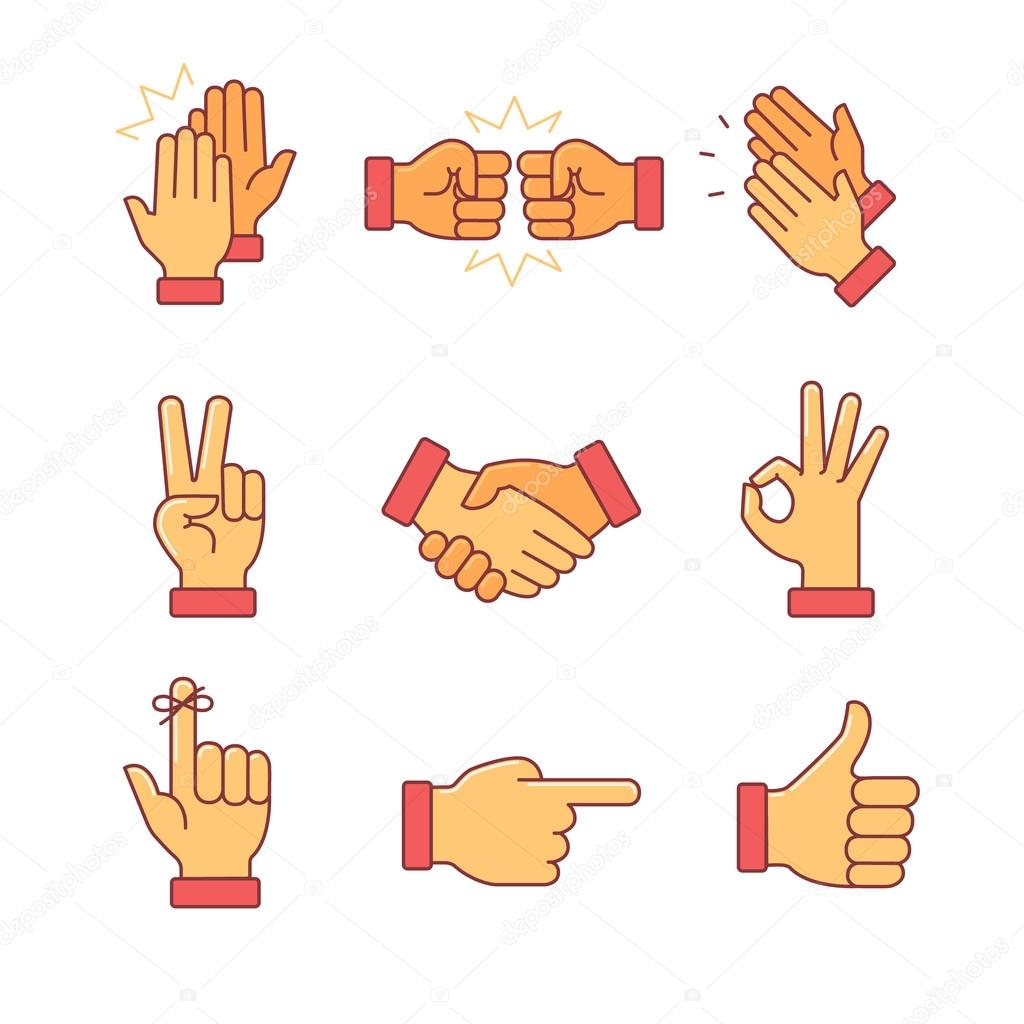 Clapping hands and other gestures