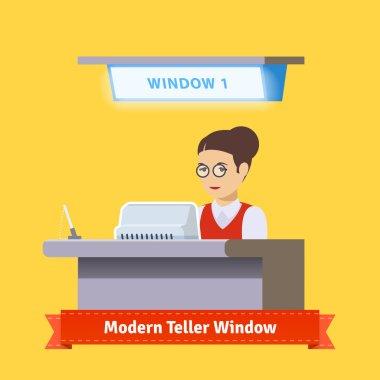 Modern technology teller window