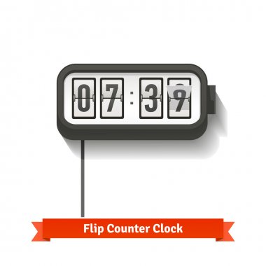 Wall flipping clock
