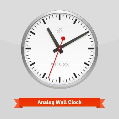 White designer clock face