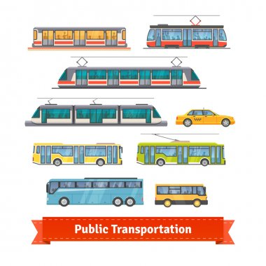 City and intercity transportation vehicles
