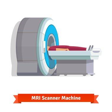 MRI machine scanning patient insid