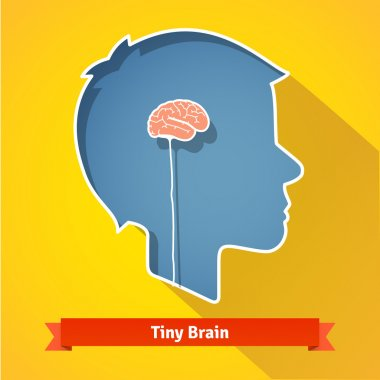 Tiny small underdeveloped brain