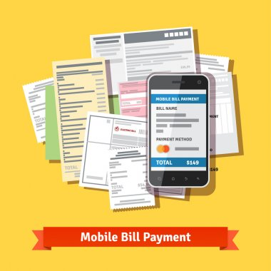 Online mobile smartphone bill payment