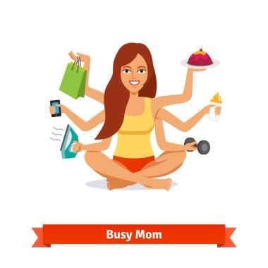 """Картина, постер, плакат, фотообои """"занят многозадачной женской и материнской концепцией """", артикул 88737350"""
