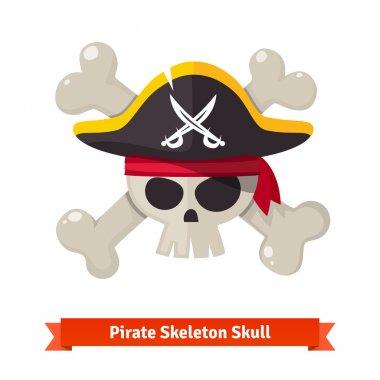 Pirate skull with crossed bones