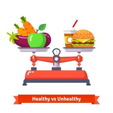 Healthy versus unhealthy food