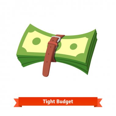 Tight budget and recession economy concept