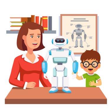 Teacher and humanoid bipedal robot