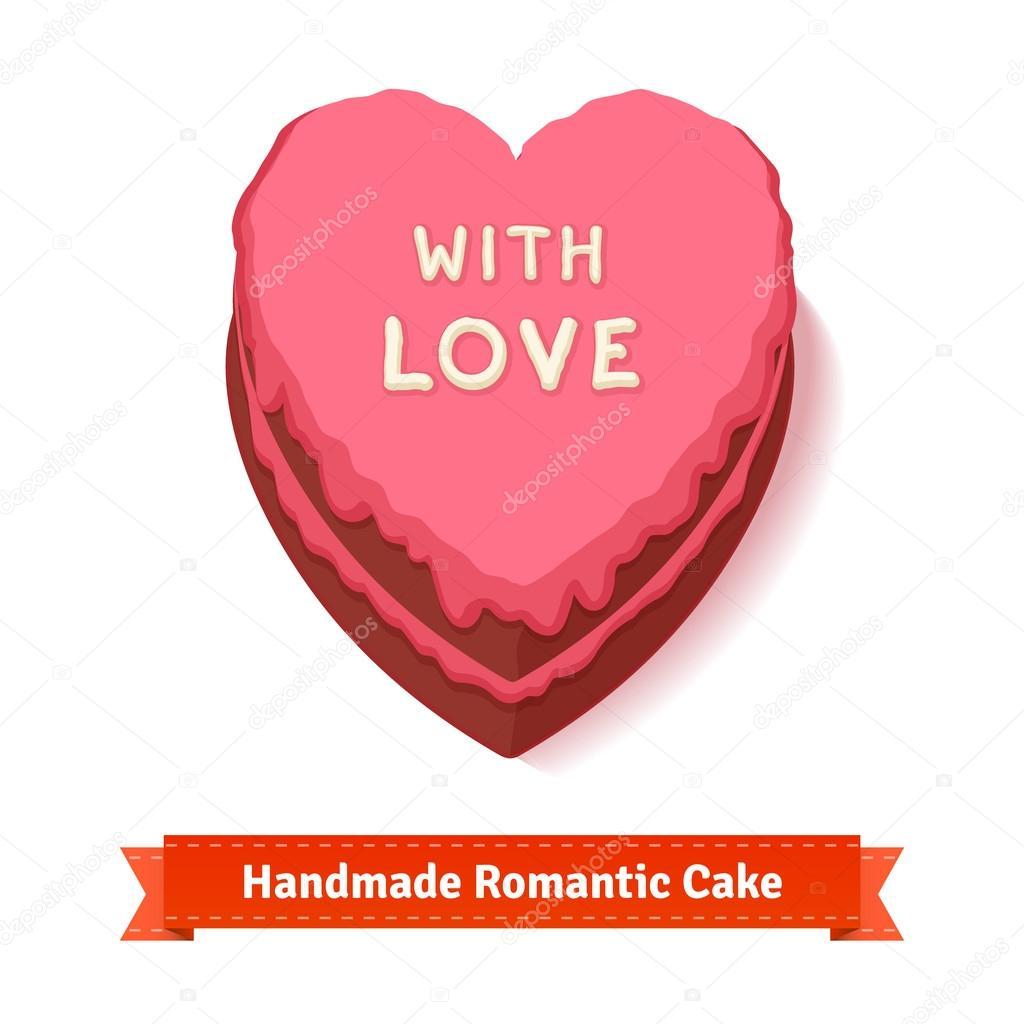 Valentinstag Geburtstag Romantische Kuchen Stockvektor