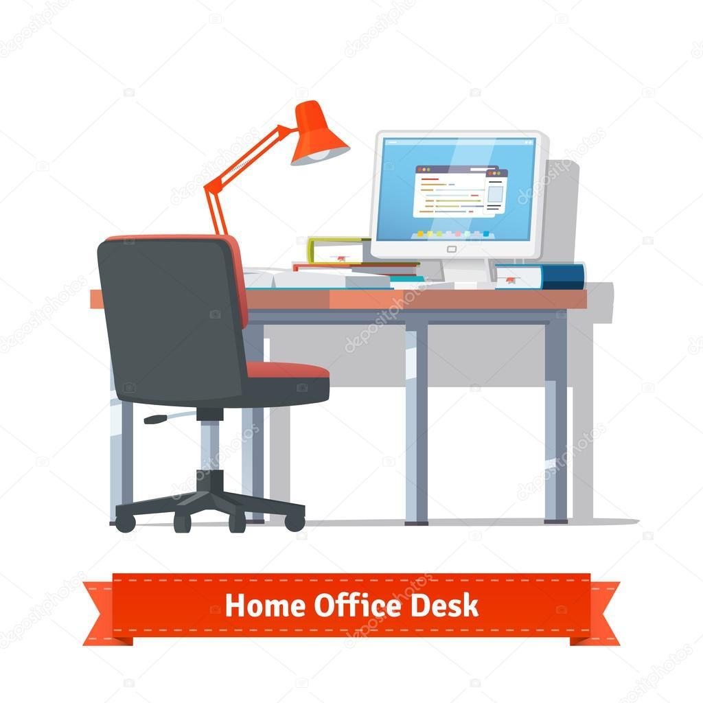 Bequem zu Hause Arbeitsplatz auf dem Desktop mit einge ...