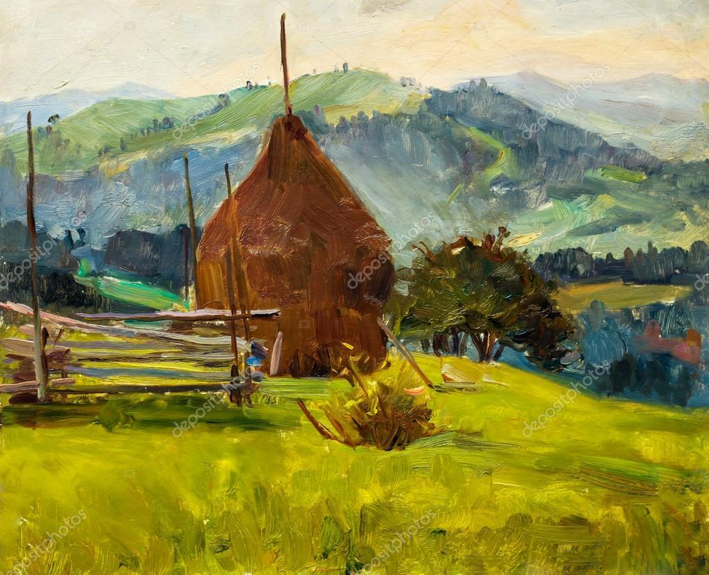 Beautiful Original Oil Painting of autumn landscape On Canvas