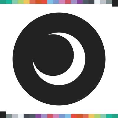 Crescent moon icon.