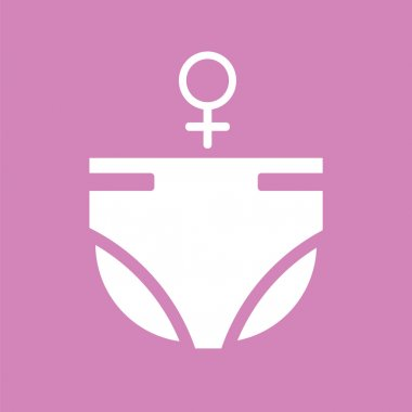 Diapers for girls icon.