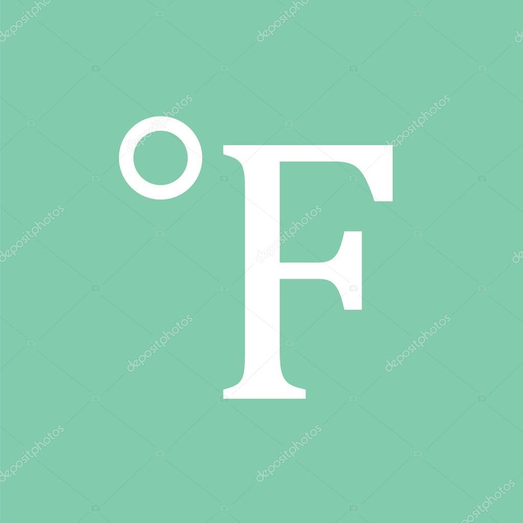 Degree fahrenheit icon temperature icon stock vector mfbs degree fahrenheit icon temperature icon vector by mfbs biocorpaavc Choice Image