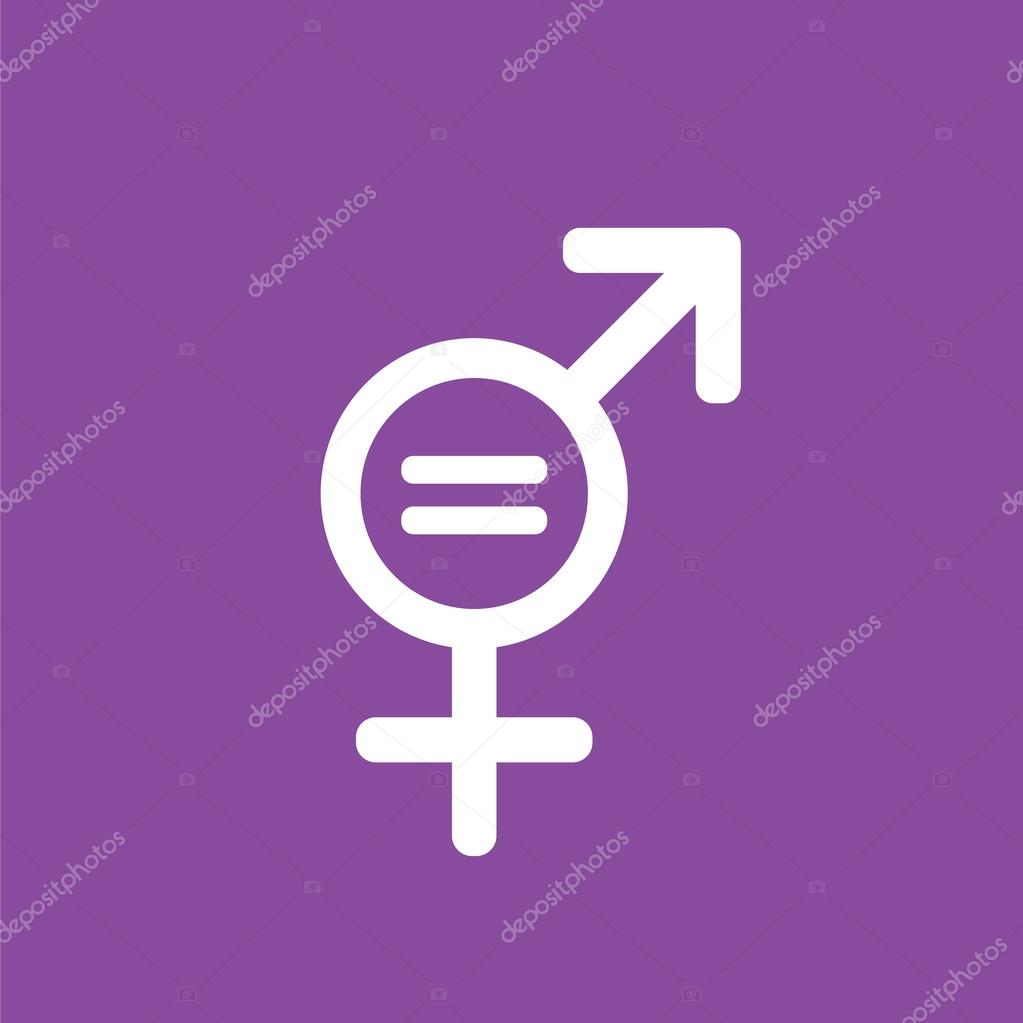 Male and female gender symbols with equality sign between them male and female gender symbols with equality sign between them stock vector buycottarizona Choice Image