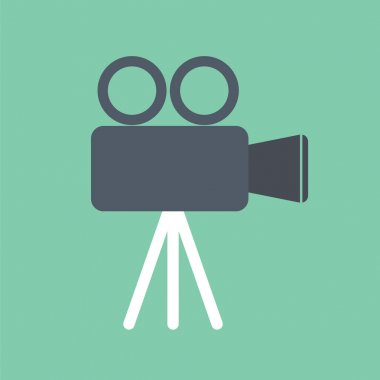 Video recorder icon. DSLR icon. Movie icon.