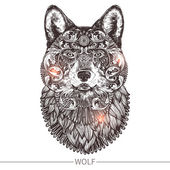 Photo Ornamental Tattoo Wolf Head