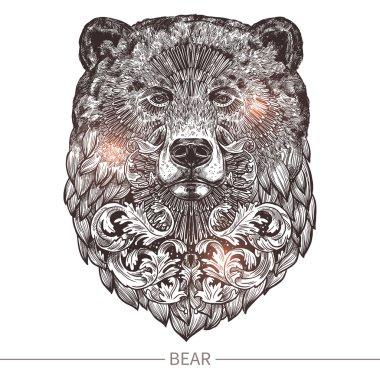 Ornamental Tattoo Bear Head