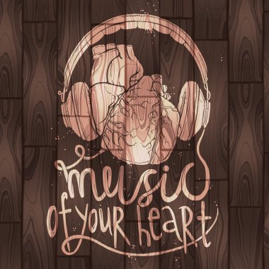 Anatomical Heart With Headphones