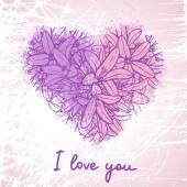 Scheda romantica con amore testo