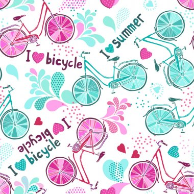 funny pattern with bicycles