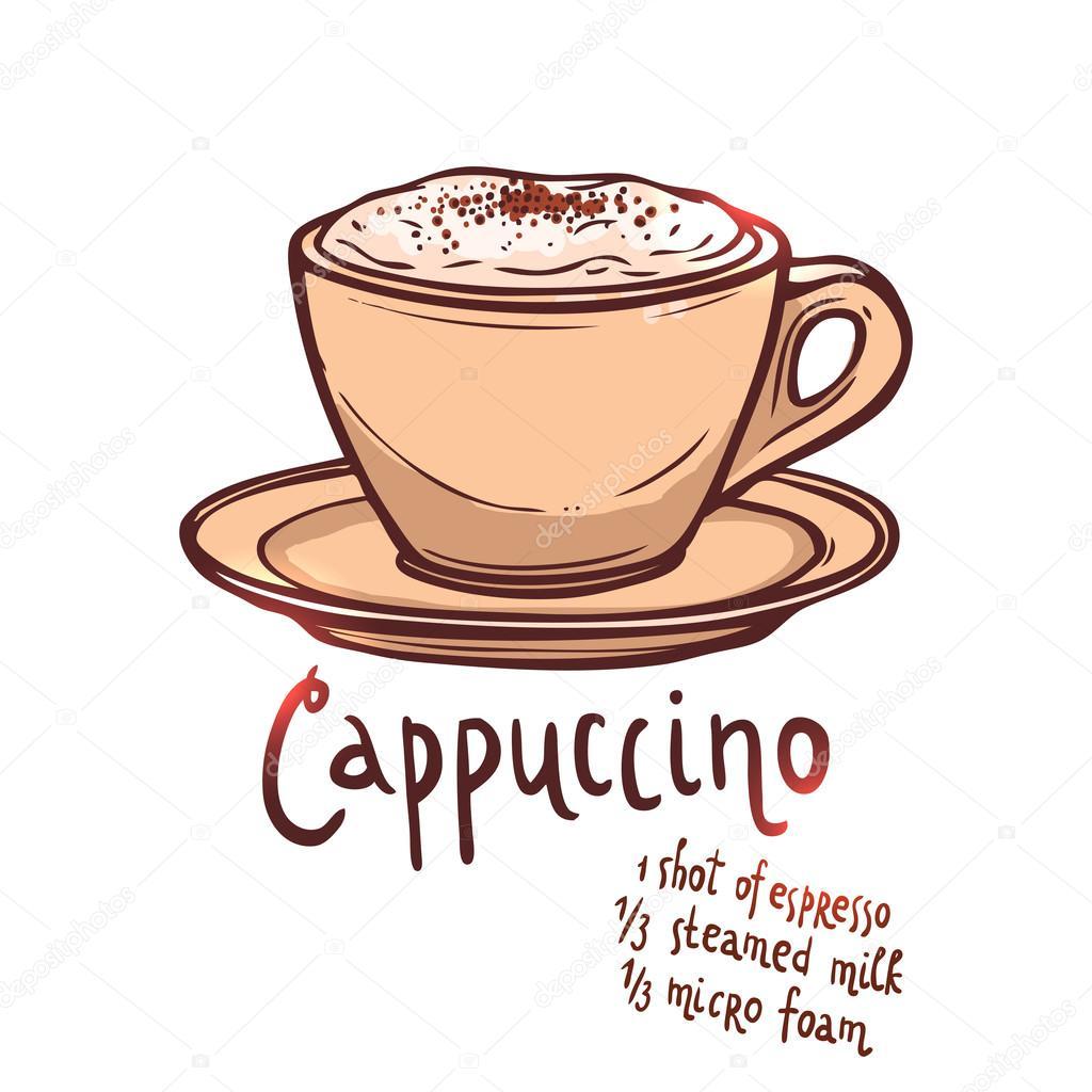 Taza de caf capuchino vector de stock alexrockheart 82690820 - Bilder cappuccino ...
