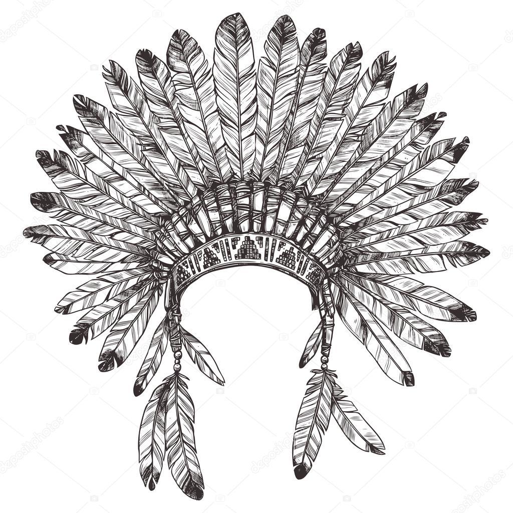 Coiffe Indien Indigene Image Vectorielle 82694786