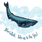 kézzel rajzolt bálna