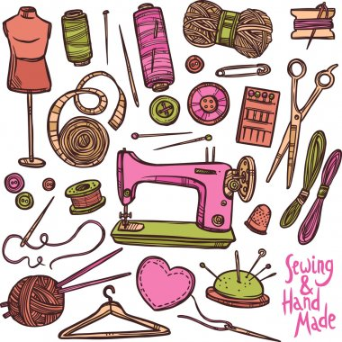 Accessories And Equipment For Sewing.