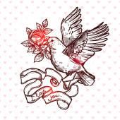 Fényképek Valentin-nap kártya galamb