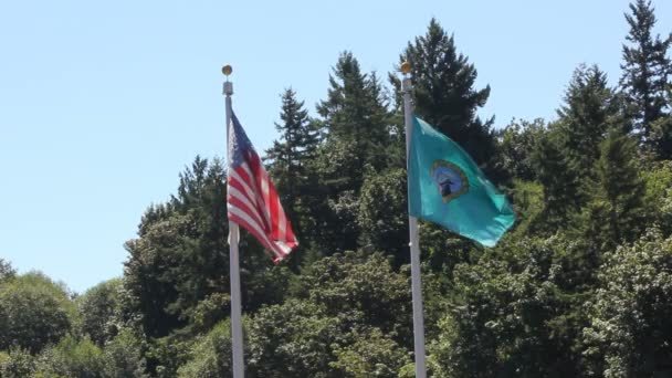 Washington and United States Flags