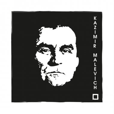 Artist Kazimir Malevich and Black Square.