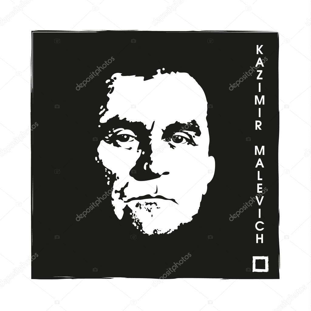 Artist Kazimir Malevich and Black Square.
