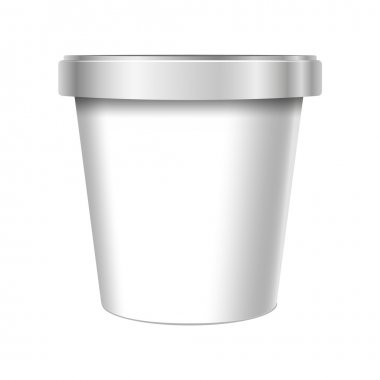 White Food Plastic Tub Bucket Container.