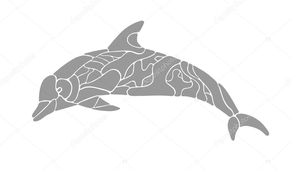 a silhueta do golfinho vetores de stock korolokov lev 104237960