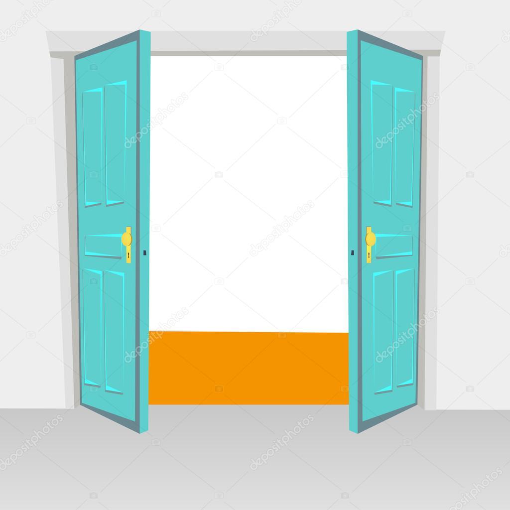Puertas interiores de abrir con bisagras bivalvo, oscilaciones de la ...